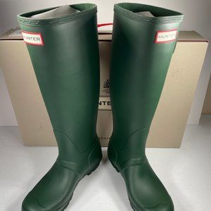 Hunter Original Tall Matte Green Rain Boot